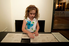 Interactive for children and families at the Greensboro Historical Museum