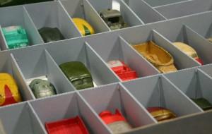 storage box of miniature cars