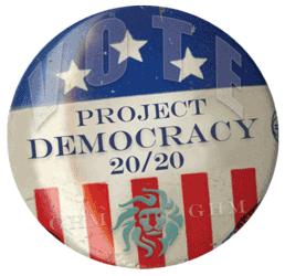 Project Democracy 20/20 button
