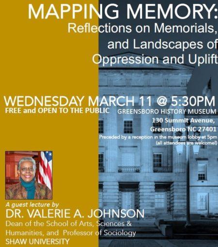 Valerie Johnson Talk Memorials 2020