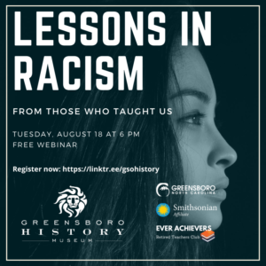 Lessons in Racism title with woman's face