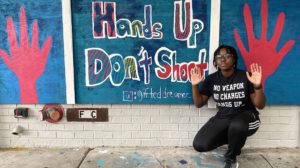 Hands up Don't Shoot Mural Artist Chimeri Anazia