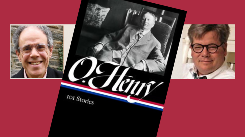 Authors Ben Yagoda and Jim Dodson headshots with book cover of O.Henry 101 Stories