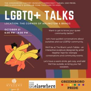 LGBTQ+ Talks graphic
